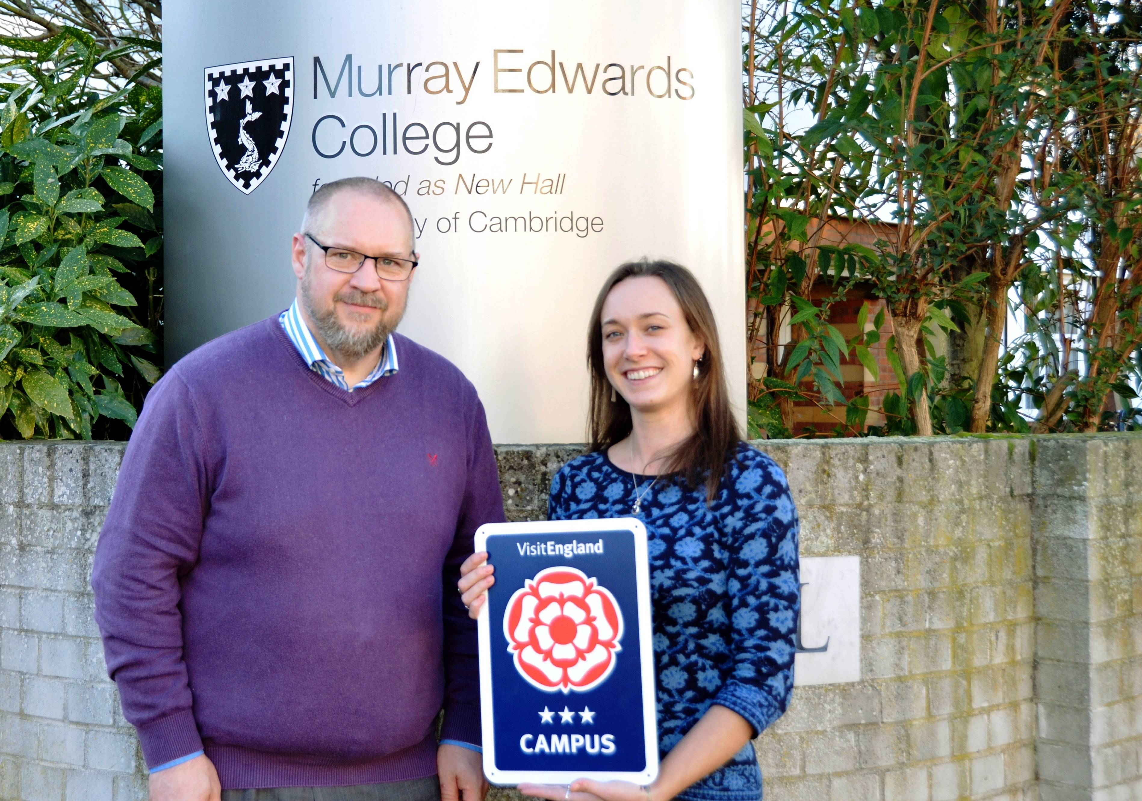 Murray Edwards College is celebrating receiving a Three Star Campus Rating for the third time, following an in-depth audit of the standard of en suite accommodation it provides for conference delegates and B&B guests.