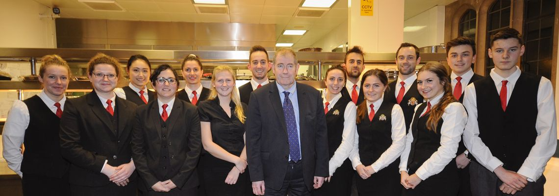 The catering team at St John's College, Cambridge