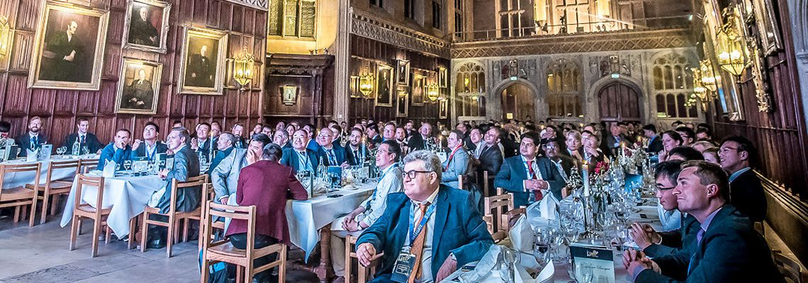 Delegates gather at King's College, Cambridge