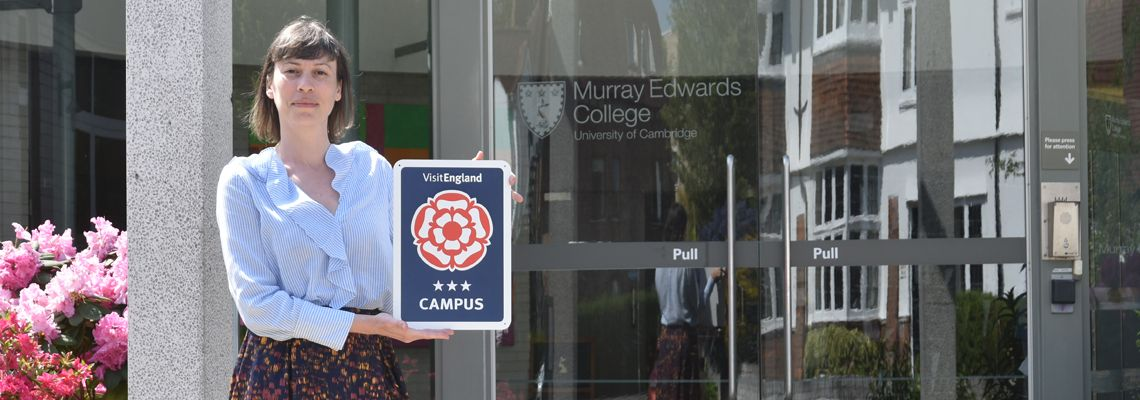 VisitEngland Three Star Campus Rating for Murray Edwards College, Cambridge