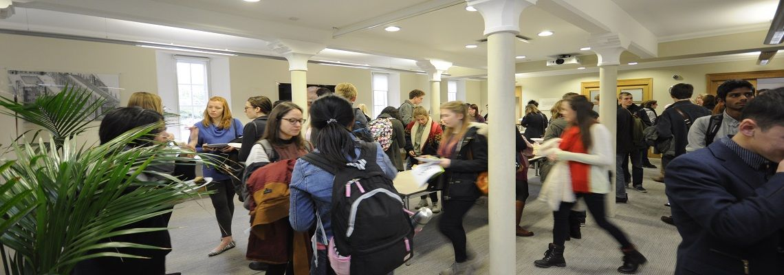 Find a venue for a student recruitment event at the University of Cambridge...